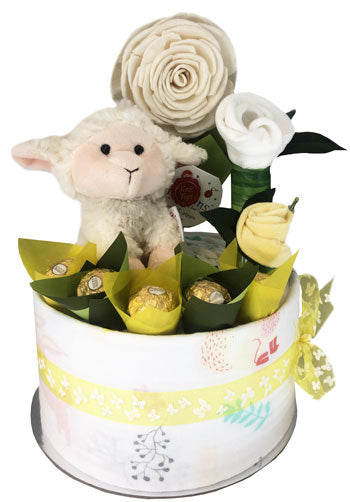 Baby Nappy Cake Plush Pippins Lamb