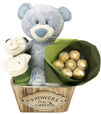 Baby Boy Basket Snugem Korimco Bear