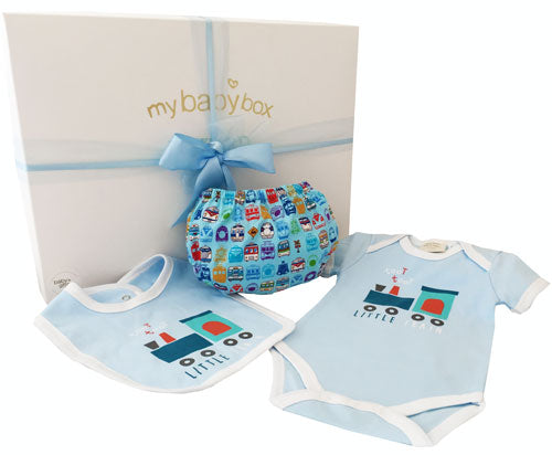 Little Train Baby Boy Hamper