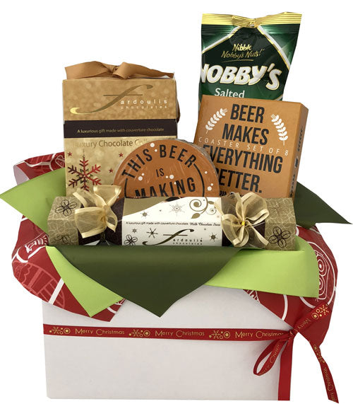 Christmas Hampers - Gourmet Delights & Beer Coaster Set