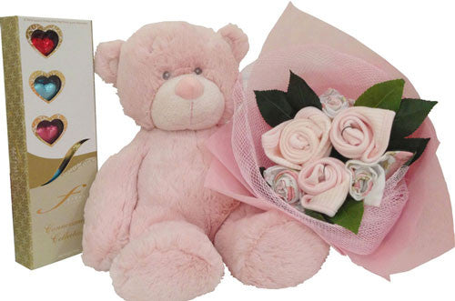 Baby Girl Bouquet - Grand Plush Marshmallow
