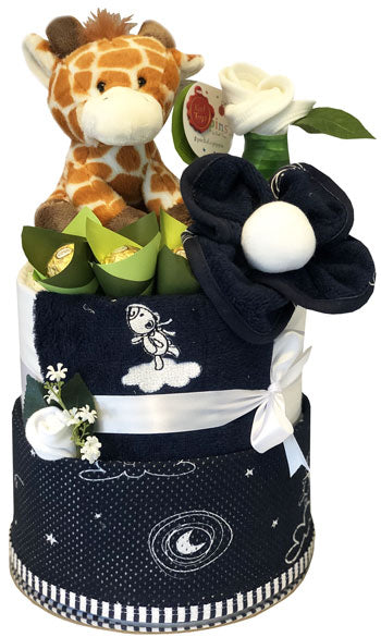 My Mum n Bub Cake - Ultimate Navy Swaddle Giraffe