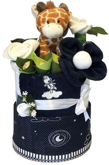 My Mum n Bub Cake - Grand Navy Swaddle Giraffe