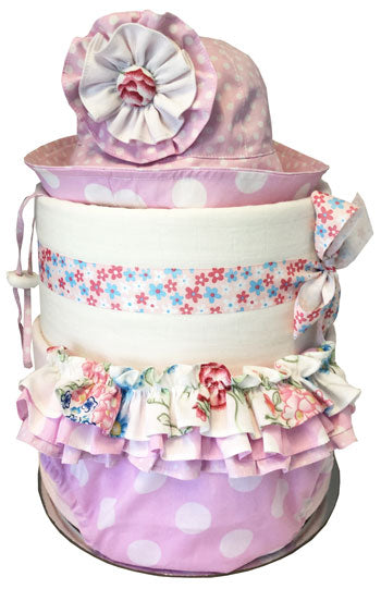 Baby Designer Clothing Pink Dot Nappy Cake
