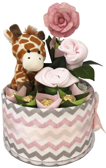 Pippins Giraffe Girl Nappy Cake
