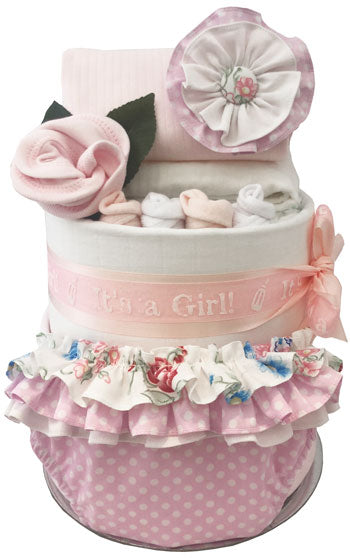 Baby Girl First Wardrobe Nappy Cake