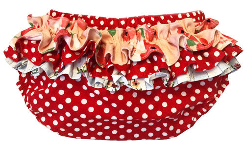 Baby Ruffle Bloomers - Red Dot Bloomers