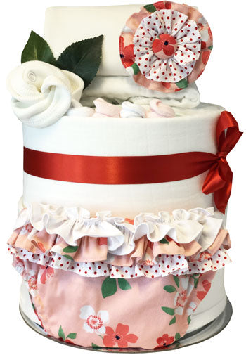 Nappy Cake Girl Ruffle Bloomers Set