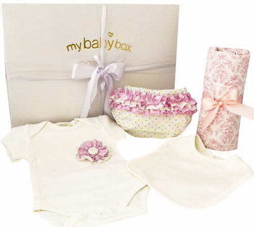 Stunning baby hampers over 100 fast delivery australia wide personalised baby girl clothing hamper negle Image collections