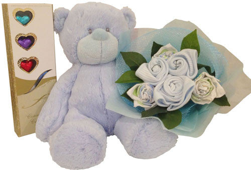 Baby Boy Bouquet - Grand Plush Sky