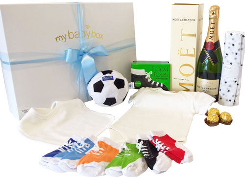 Soccer Ball Baby Hamper - Baby Sets, Kicker Socks and Moet