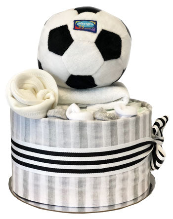 Nappy Cakes First Footy Muslin Wrap Baby Boy Soccerball