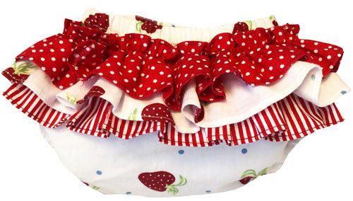 Baby Ruffle Bloomers - Strawberry Bloomers