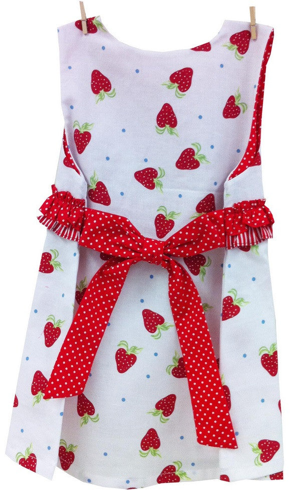 Baby Dresses - LWTB Strawberry Pinafore Dress
