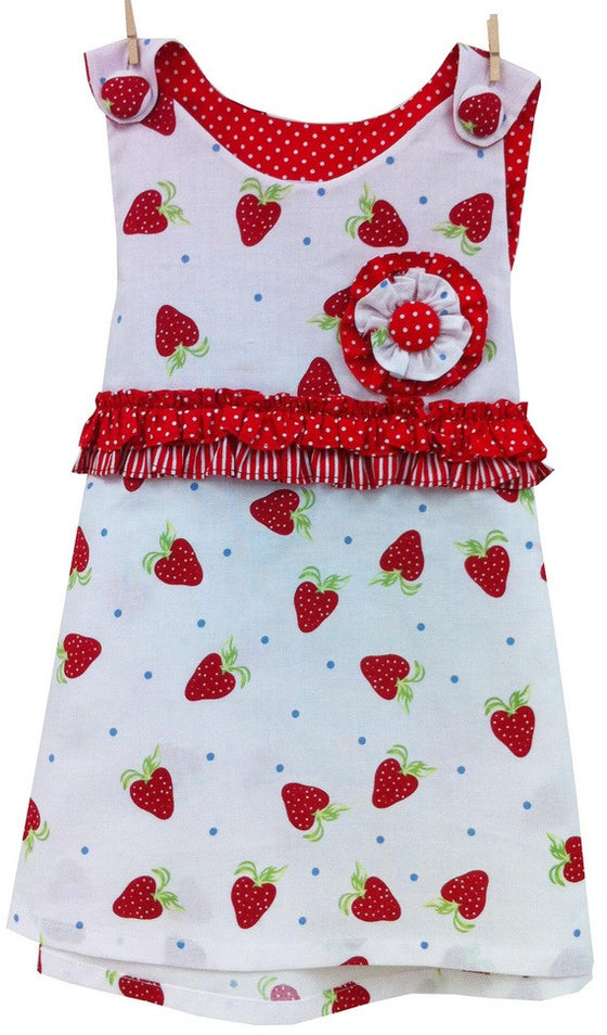 LWTB Strawberry Pinafore Dress