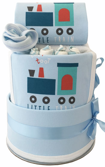 Baby Hamper Little Train Nappy Cake Baby Boy