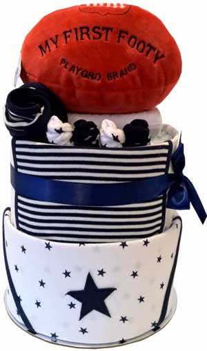 My First Footy Cake - Ultimate Navy Star