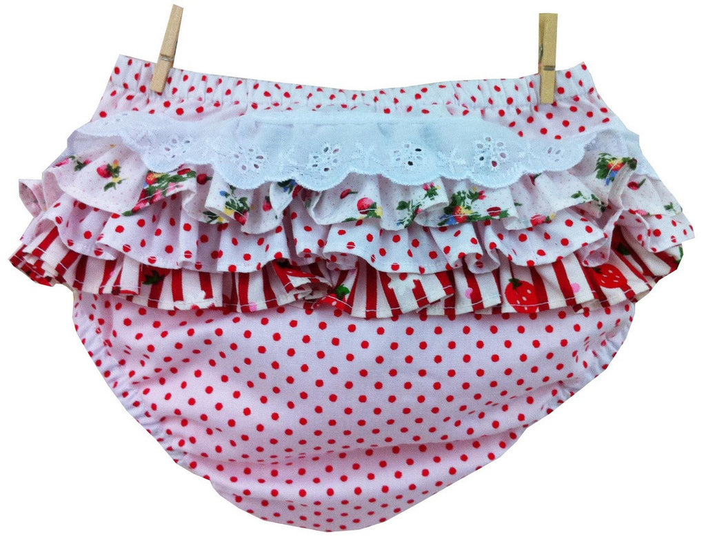 LWTB White Dot Ruffle Bloomers
