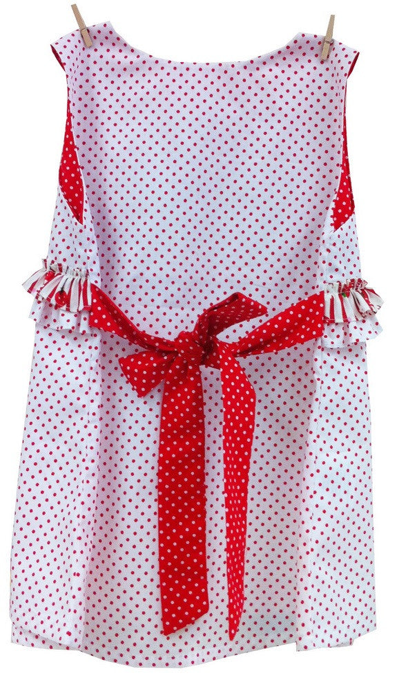 Baby Dresses - LWTB White Dot Pinafore Dress