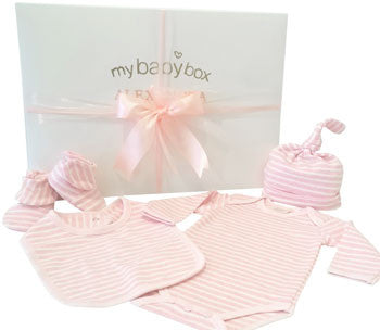 Baby Girl Clothing Hamper - Bodysuit, Bib, Bootees and Hat