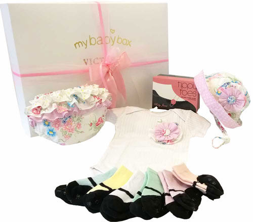 Baby Hamper Ruffle Bloomers and Baby Jane Sock Set
