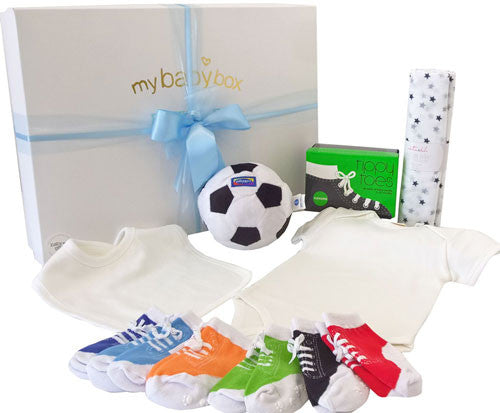 Soccer Ball Baby Hamper - Baby Sets and Kicker Socks
