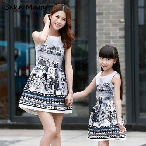21bd7b360841 7 mom and daughter matching dresses - Momeaz