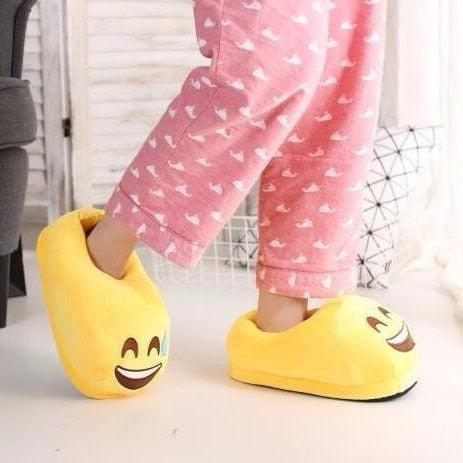 Emoji Funny Plush Slippers