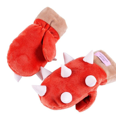 Cartoon Cotton Warm Outdoor Gloves