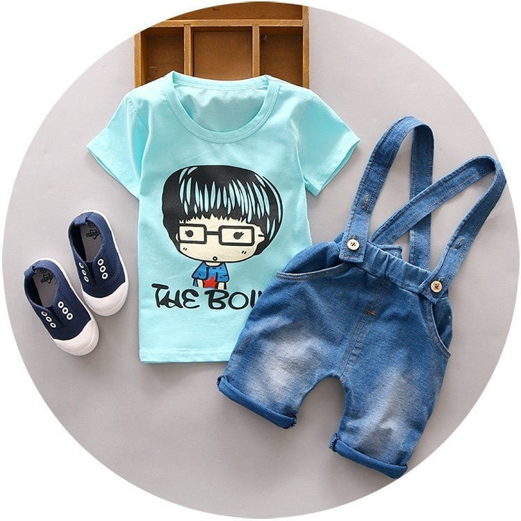 652bcb184 Jumper And T-Shirt Set With Character Print - Momeaz