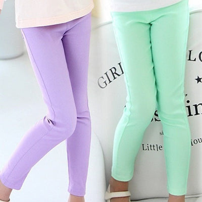 Candy Colored Pencil Girls Leggings