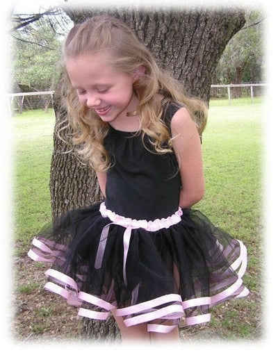 Girl Tutu Skirt With Satin Ribbon Lace
