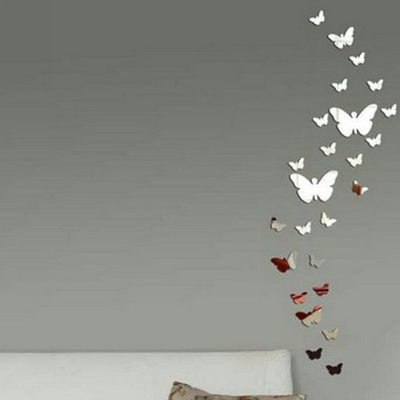 Acrylic Mirror Butterfly Wall Stickers