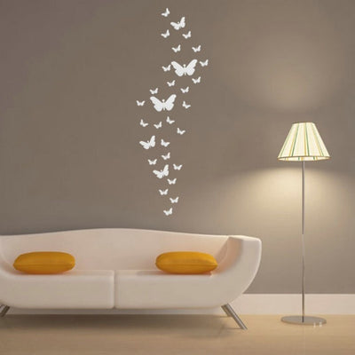 Acrylic Mirror Butterfly Wall Stickers Momeaz - Wall decals mirror