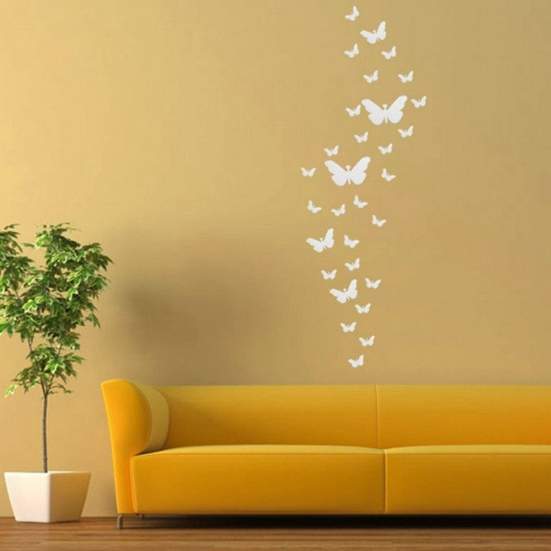 Acrylic Mirror Butterfly Wall Stickers - Momeaz