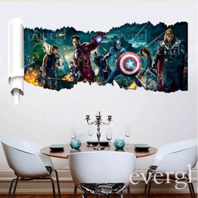 3D Movie The Avengers Removable Vinyl Wall Sticker