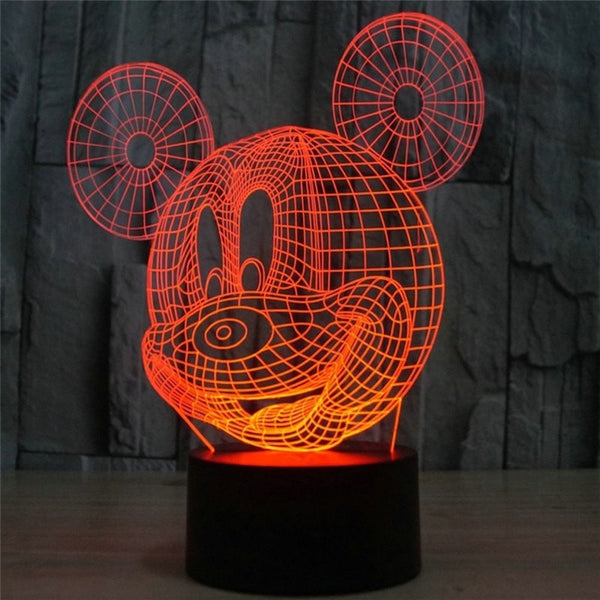 3D Mickey Mouse Table Lamp