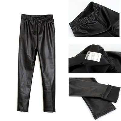 Leather Leggings Pants Clothing Kids
