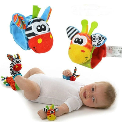 Baby Sock And Wrist Rattles 4Pcs (2Pcs Socks+2Pcs Wrists)