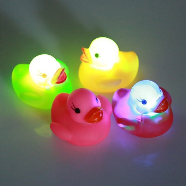 Flashing Light Rubber Bath Duck