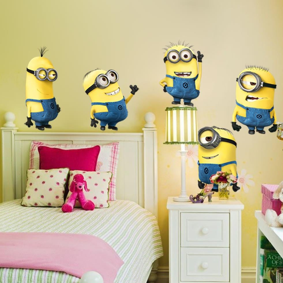 Minion Wall Stickers Vinyl Sticker Art - Momeaz