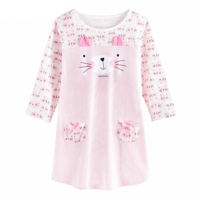 Cute Cat Girl Cotton Nightdress Pyjama