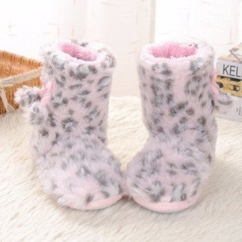 Warm Leopard Boots Slippers