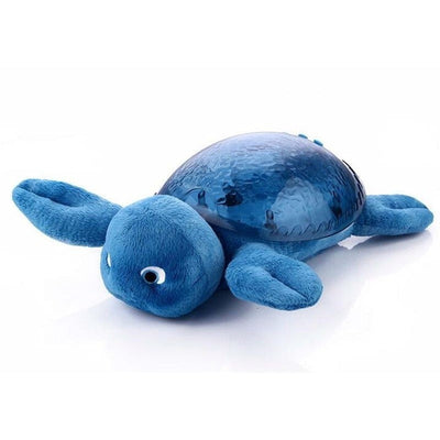 Cute Sea Turtle Wave Projection Soft Lights Music Children Plush Toys