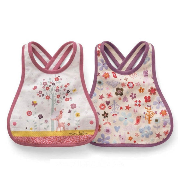 Adjustable Cross Back Cotton Kids Bib