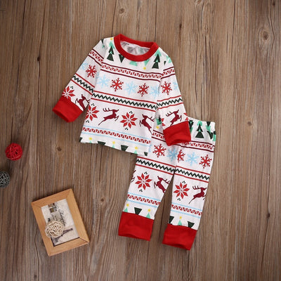 Christmas Deer Snowflake Pyjamas Set