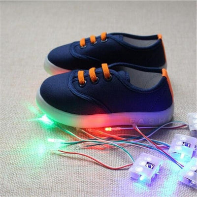 Children's Canvas Shoes With Flashing LED
