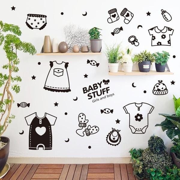 Baby Stuff Style Wall Stickers - Kids Rooms Decor