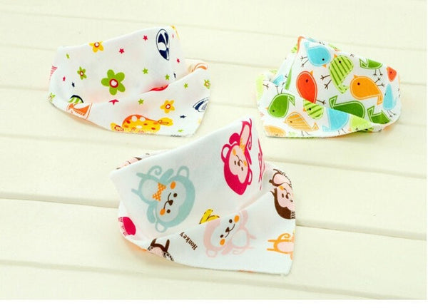 Baby Triangle Cotton Cartoon Bibs