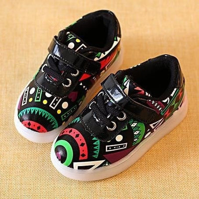 Boho Pattern Luminous Children Shoes